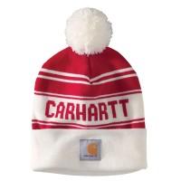 Carhartt Knit Pom-Pom Cuffed Logo Beanie