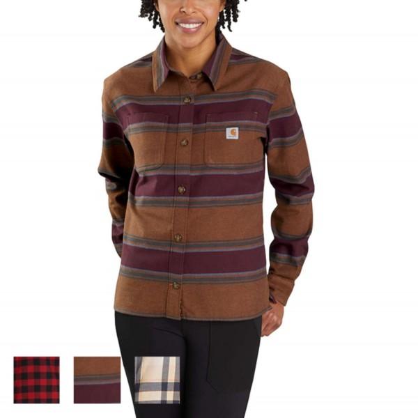 Carhartt RUGGED FLEX® LOOSE FIT MIDWEIGHT FLANNEL LONG-SLEEVE PLAID Hemd