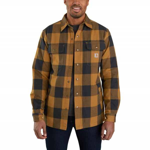 Carhartt RELAXED FIT HEAVYWEIGHT FLANNEL SHERPA-LINED Hemd